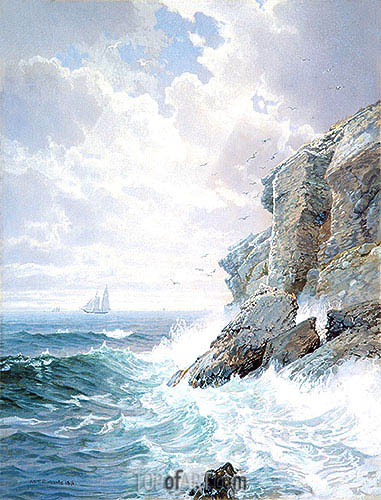 Purgatory Cliff, 1876 | William Trost Richards | Painting Reproduction