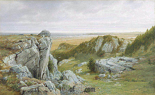 Near Paradise, Newport, 1877 | William Trost Richards| Painting Reproduction