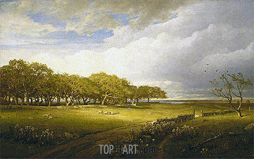William Trost Richards | Old Orchard at Newport, 1875