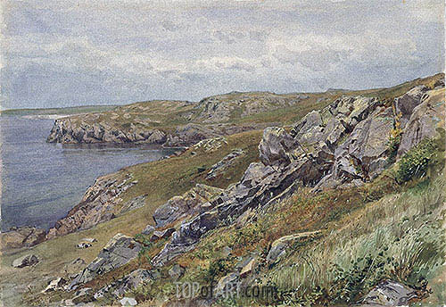 Rhode Island Coast: Conanicut Island, c.1880 | William Trost Richards| Painting Reproduction