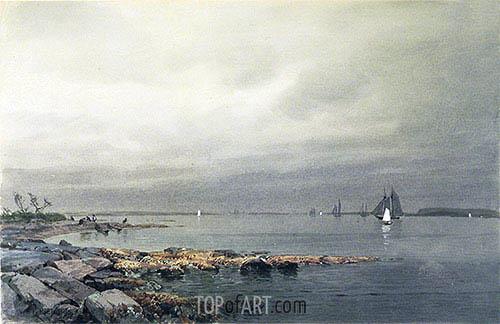 Calm Before a Storm, Newport, c.1874 | William Trost Richards | Gemälde Reproduktion