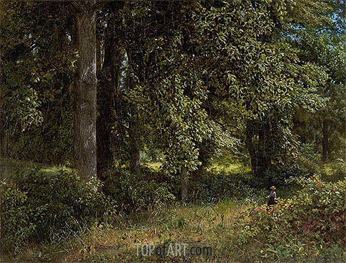 Tulip Trees, 1859 | William Trost Richards| Painting Reproduction