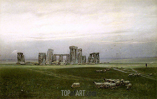 William Trost Richards | Stonehenge, c.1882
