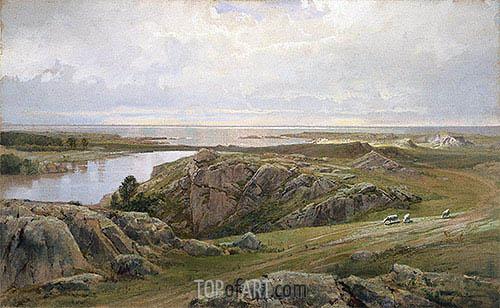 Lily Pond, Newport, 1877 | William Trost Richards | Gemälde Reproduktion