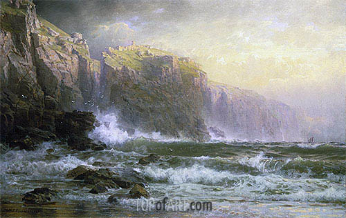 The League Long Breakers Thundering on the Reef, 1887 | William Trost Richards | Painting Reproduction