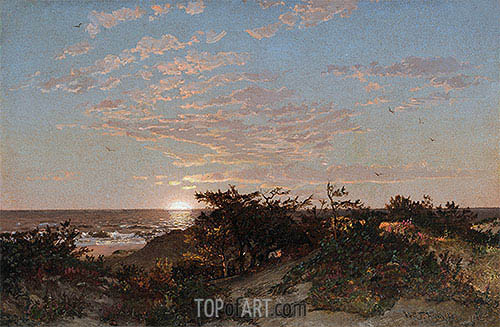 Coastal Scene, 1862 | William Trost Richards| Painting Reproduction