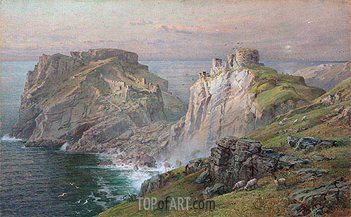 Tintagel, 1881 | William Trost Richards | Painting Reproduction