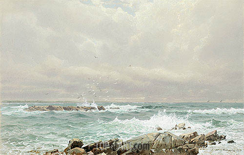 Seascape, 1875 | William Trost Richards | Painting Reproduction