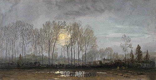 Moonlit Landscape, undated | William Trost Richards | Gemälde Reproduktion