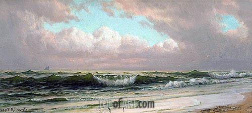 Seascape, Waves, c.1890 | William Trost Richards | Gemälde Reproduktion