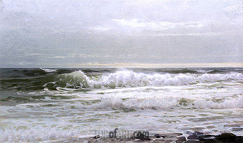 William Trost Richards | Seascape, c.1890