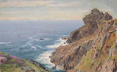 Coast Near Boscastle, Cornwall, c.1878/79 | William Trost Richards | Gemälde Reproduktion