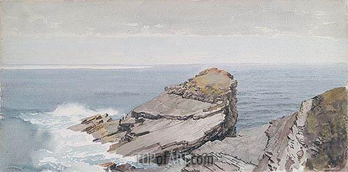 Rocks on the Shore, c.1880/90 | William Trost Richards | Gemälde Reproduktion