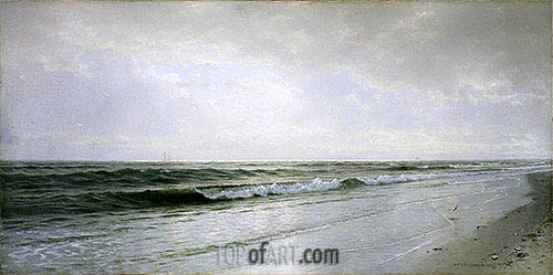 Quiet Seascape, 1883 | William Trost Richards| Painting Reproduction