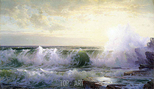 Newport Coast, 1902 | William Trost Richards | Painting Reproduction