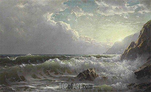 William Trost Richards | Off the Coast of Cornwall, 1904