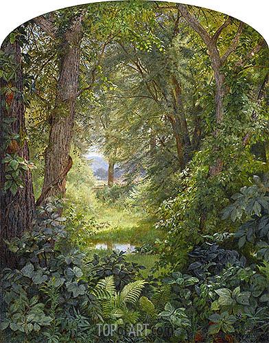 Woodland Landscape (Woodland Glade), 1860 | William Trost Richards | Gemälde Reproduktion