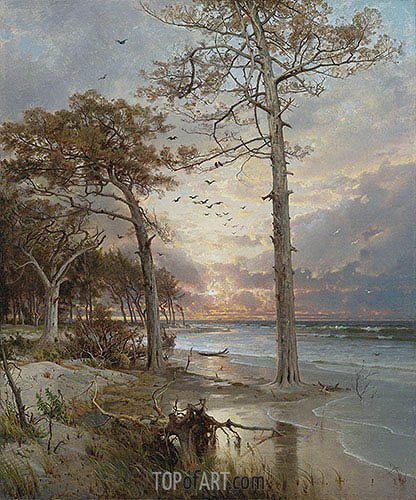 At Atlantic City, 1877 | William Trost Richards | Painting Reproduction