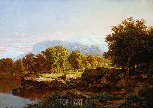 Summer Landscape, 1859 | William Trost Richards | Painting Reproduction