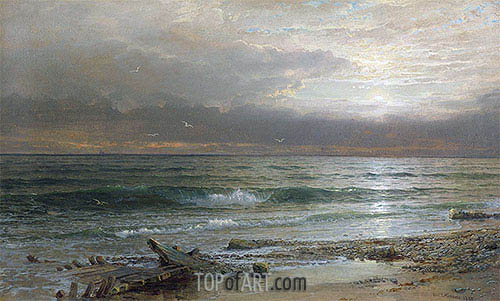 William Trost Richards | Point Judith, 1885