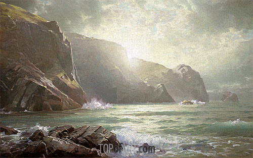 William Trost Richards | Cornish Coastline, undated