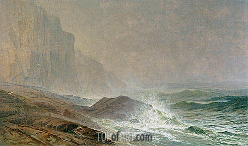 Coast of Cornwall, 1869 | William Trost Richards | Painting Reproduction