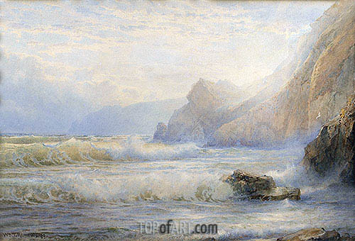 Crashing Waves, 1899 | William Trost Richards | Gemälde Reproduktion