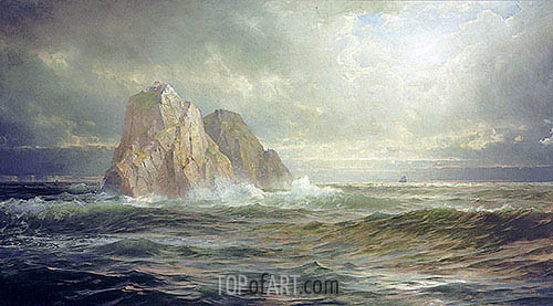 The Skelligs, Coast of Ireland, 1893 | William Trost Richards| Painting Reproduction