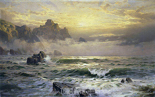 William Trost Richards | Mornings Mist, Guernsey, 1898