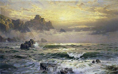 Mornings Mist, Guernsey, 1898 | William Trost Richards | Gemälde Reproduktion