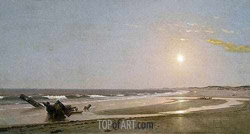 Seascape, 1870 | William Trost Richards| Painting Reproduction