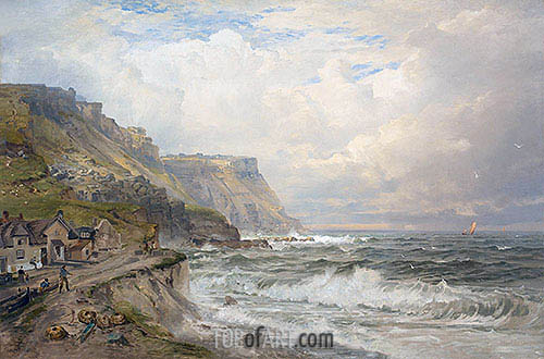 Portland Bill, England, c.1885/90 | William Trost Richards| Painting Reproduction