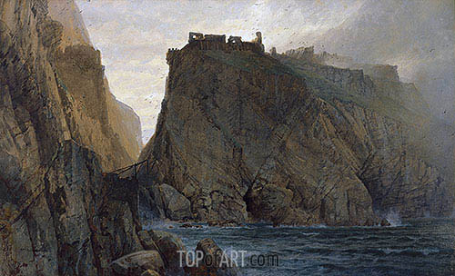Tintagel on the Cornish Coast, 1879 | William Trost Richards| Painting Reproduction