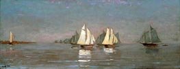 Gloucester, Mackerel Fleet at Dawn, 1884 by Winslow Homer | Painting Reproduction