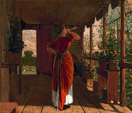 The Dinner Horn, 1873 by Winslow Homer | Painting Reproduction