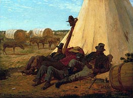 The Bright Side, 1865 by Winslow Homer | Painting Reproduction