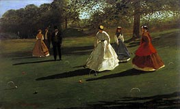 Croquet Players, 1865 by Winslow Homer | Painting Reproduction