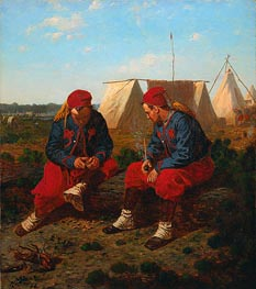 The Briarwood Pipe, 1864 by Winslow Homer | Painting Reproduction
