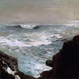 Cannon Rock, 1895 by Winslow Homer | Painting Reproduction