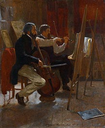 The Studio, 1867 by Winslow Homer | Painting Reproduction