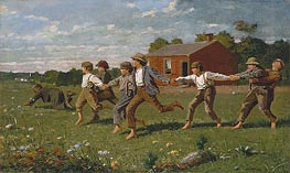 Snap the Whip, 1872 by Winslow Homer | Painting Reproduction