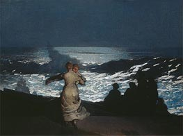 A Summer Night, 1890 by Winslow Homer | Painting Reproduction