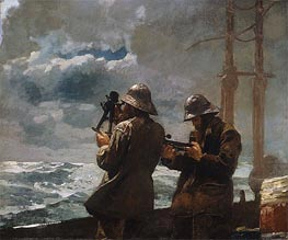 Eight Bells, 1886 by Winslow Homer | Painting Reproduction