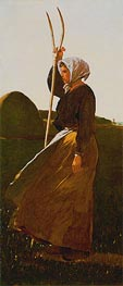 Girl with Pitchfork, 1867 by Winslow Homer | Painting Reproduction