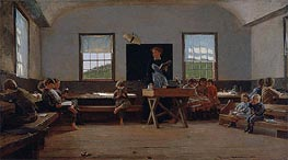 The Country School, 1871 by Winslow Homer | Painting Reproduction