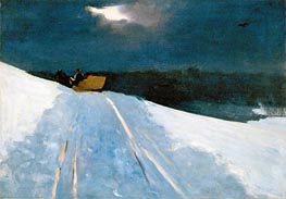 Sleigh Ride (Moonlight on the Snow), c.1890/95 by Winslow Homer | Painting Reproduction