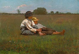 Boys in a Pasture, 1874 by Winslow Homer | Painting Reproduction