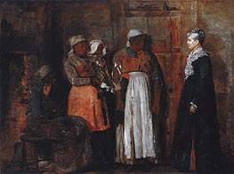 A Visit from the Old Mistress, 1876 by Winslow Homer | Painting Reproduction