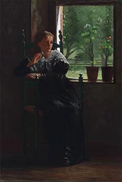 At the Window, 1872 by Winslow Homer | Painting Reproduction