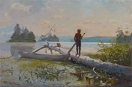 An Adirondack Lake (The Trapper), 1870 by Winslow Homer | Painting Reproduction